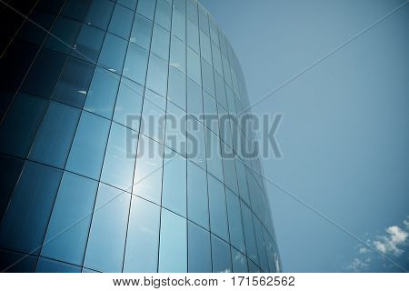 Corporate building in a business office center.