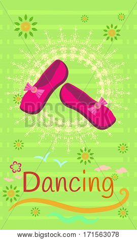 Illustration of shoes for dancing. Elegant and beautiful model