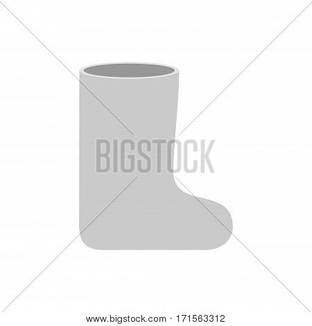 Russian White Winter Boots (valenki). Warm Shoes In Russia