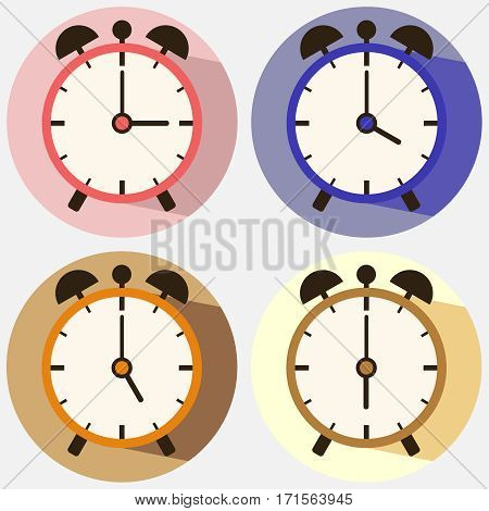 Alarm Clock, Alarm icon, clock, time. Flat design, vector illustration, vector.