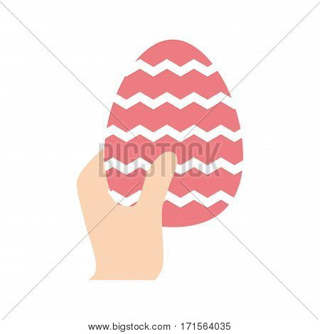 hand hing easter egg vector illustration eps 10
