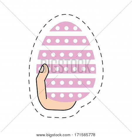 easter egg hand hing vector illustration eps 10