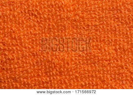 fabric and texture concept - close up of bath towel terrycloth or terry textile background