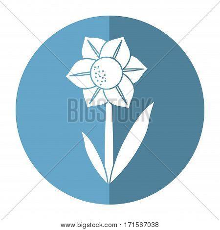 mona lisa flower natural shadow vector illustration eps 10