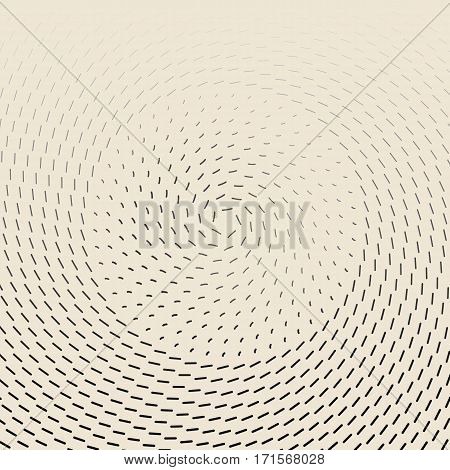 Concentric circulating lines. abstract graphic vector background