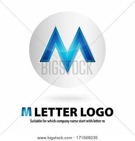 3d circle m letter logo 100% vector fully editable and re sizable  suitable for which letter is beginning with letter m