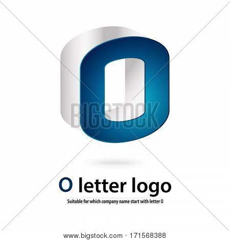 3d circle o letter logo 100% vector fully editable and re sizable  suitable for which letter is beginning with letter o