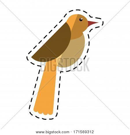 cartoon bird dove fauna fly icon vector illustration eps 10