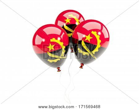 Three Balloons With Flag Of Angola