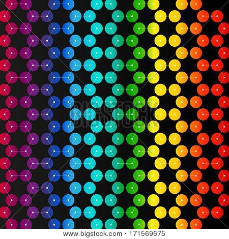 Chemistry pattern, hexagonal design molecule structure, scientific or medical DNA research. Medicine, science and technology concept. Geometric abstract colorful background