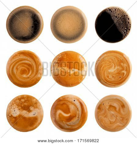 Coffee Foam isolated on white background