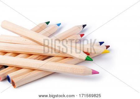 Color pencils, isolated on white