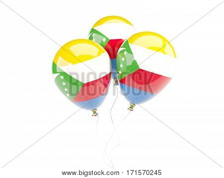 Three Balloons With Flag Of Comoros