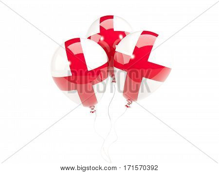Three Balloons With Flag Of England