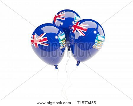 Three Balloons With Flag Of Falkland Islands