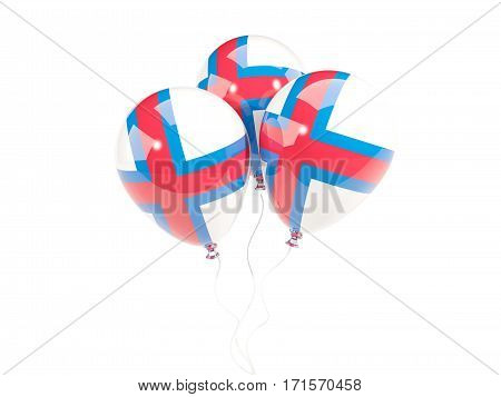 Three Balloons With Flag Of Faroe Islands