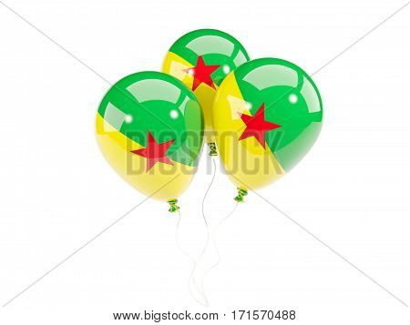 Three Balloons With Flag Of French Guiana