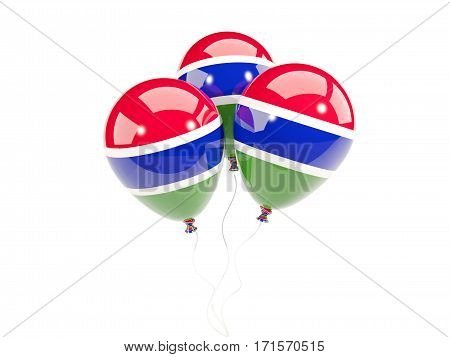 Three Balloons With Flag Of Gambia