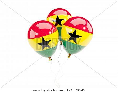 Three Balloons With Flag Of Ghana