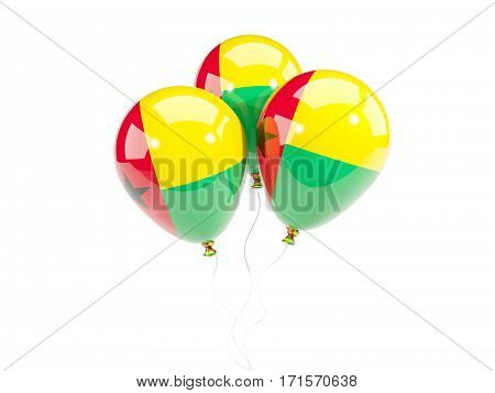 Three Balloons With Flag Of Guinea Bissau