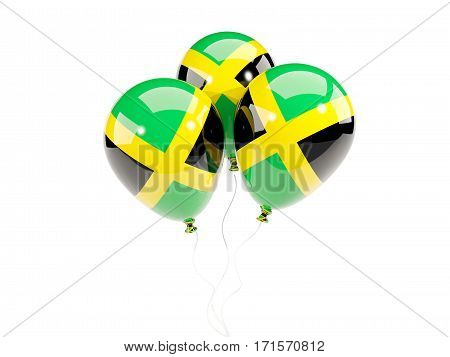 Three Balloons With Flag Of Jamaica