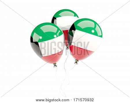 Three Balloons With Flag Of Kuwait