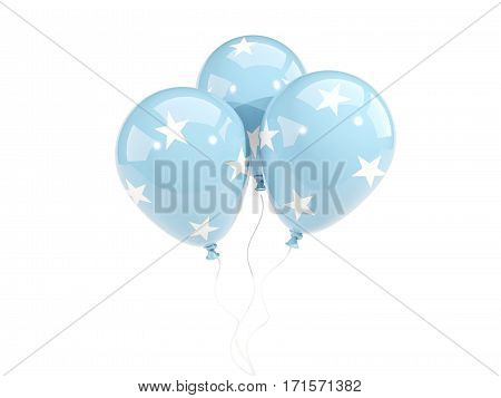 Three Balloons With Flag Of Micronesia