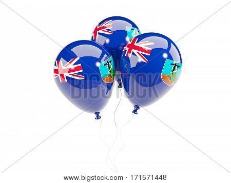 Three Balloons With Flag Of Montserrat
