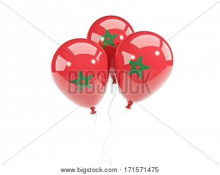 Three Balloons With Flag Of Morocco