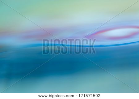 Abstract Macro Of Water Surface