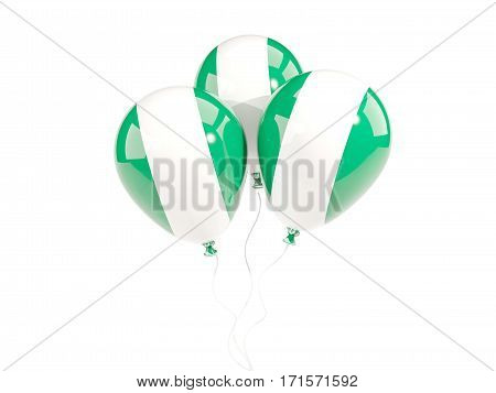 Three Balloons With Flag Of Nigeria
