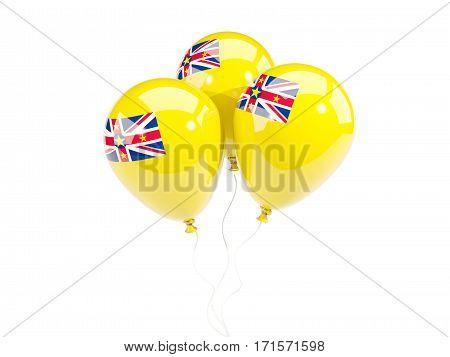 Three Balloons With Flag Of Niue