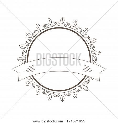 decorative frame banner leaves icon vector illustration eps 10