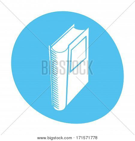 book library read learn icon color vector illustration eps 10