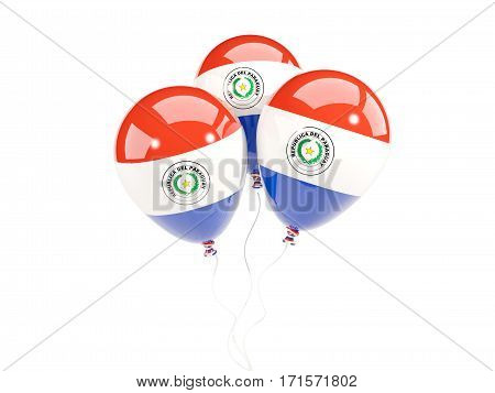 Three Balloons With Flag Of Paraguay