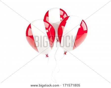 Three Balloons With Flag Of Peru