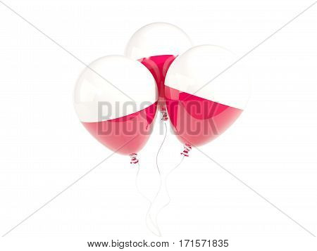 Three Balloons With Flag Of Poland