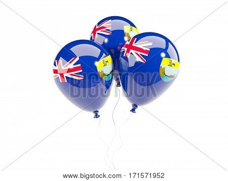Three Balloons With Flag Of Saint Helena
