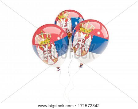 Three Balloons With Flag Of Serbia