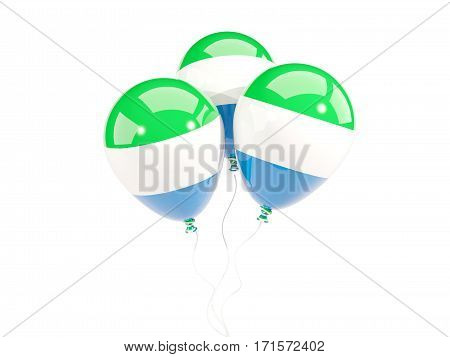 Three Balloons With Flag Of Sierra Leone