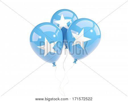 Three Balloons With Flag Of Somalia