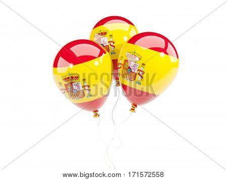 Three Balloons With Flag Of Spain