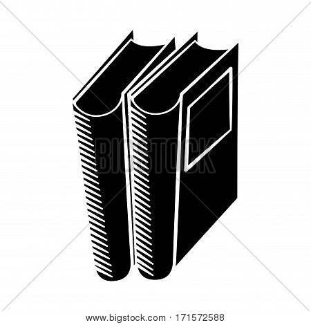 book library read learn pictogram vector illustration eps 10