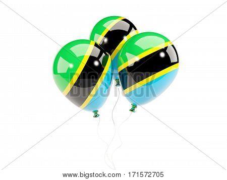 Three Balloons With Flag Of Tanzania
