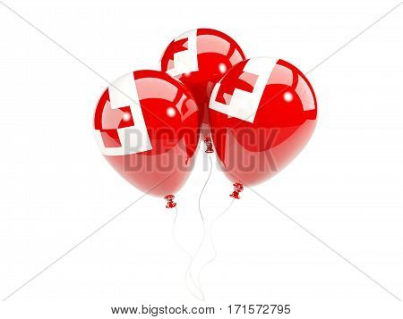 Three Balloons With Flag Of Tonga