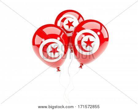 Three Balloons With Flag Of Tunisia
