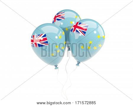 Three Balloons With Flag Of Tuvalu