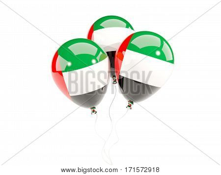Three Balloons With Flag Of United Arab Emirates
