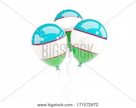 Three Balloons With Flag Of Uzbekistan