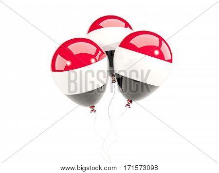 Three Balloons With Flag Of Yemen